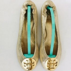 Tory Burch Authentic Ballet Flats Gold 7.5M